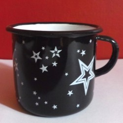 MUG - CUP RED WITH WHITE DOTS 0.25 L