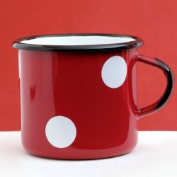 MUG - CUP WITH WHITE DOTS 0.25 L