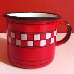 MUG - CUP GREY WITH WHITE DOTS - 0.25 L