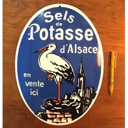 """GRANDE PLAQUE """"SELS DE POTASSE D'ALSACE"""""""